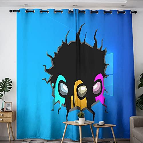 Petpany Crewmate Among us Cortinas opacas para habitación de niños, aislamiento térmico para sala de estar, dormitorio de niños y niñas, 42 x 54 cm