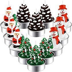 TecUnite Christmas Tealight Candles