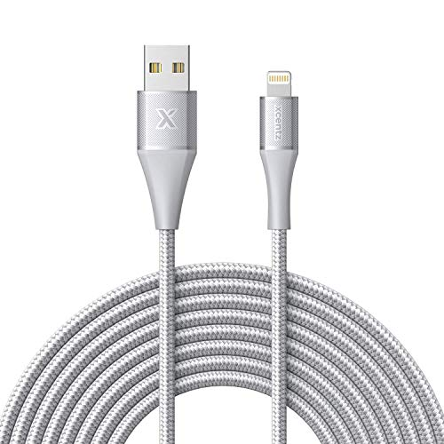 Xcentz iPhone Ladekabel,Lightning Kabel [MFi-Zertifiziert],3m Nylon iPhone Kabel Schnell Ladekabel für iPhone 11/XS Max/XS/XR/X/8/8 Plus/7/7 Plus/6S/6S Plus/6/6 Plus/SE/5s/5c/5, iPad