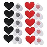 Nipplecovers Disposable, JESWELL Adhesive Women Pasties Sexy Breast Petals for Backless Dresses, Multi Design (Heart Petals 5 Pairs Black & 5 Pairs Red)