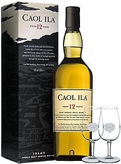 Caol Ila 12 Jahre Single Malt Whisky 0,7 Liter  2 Tasting Classic Malt Gläser