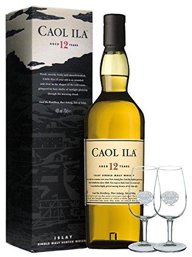 Caol Ila 12 Jahre Single Malt Whisky 0,7 Liter + 2 Tasting Classic Malt Gläser