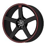 Motegi Racing MR116 Matte Black Wheel With Red Racing Stripe (18x8'/5x100, 114.3mm, +45mm offset)