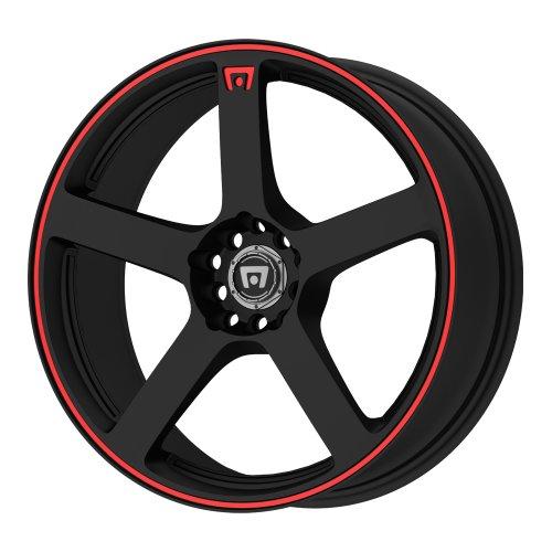 "Motegi Racing MR116 Matte Black Wheel With Red Racing Stripe (18x8""/5x100, 114.3mm, +45mm offset)"