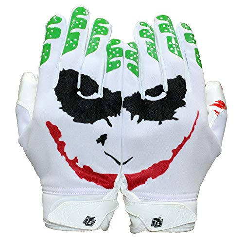 Repster Football Gloves - Tacky Grip Skin Tight Adult Football Gloves - Enhanced Performance Football Gloves Men - Jester Pro Elite Super Sticky Receiver Football Gloves - Adult Sizes (Large)