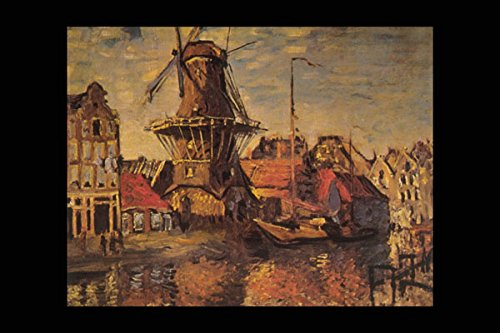 402080_Gooyer Molen Amsterdam_ Claude Monet A4 Photo Poster Print 10x8