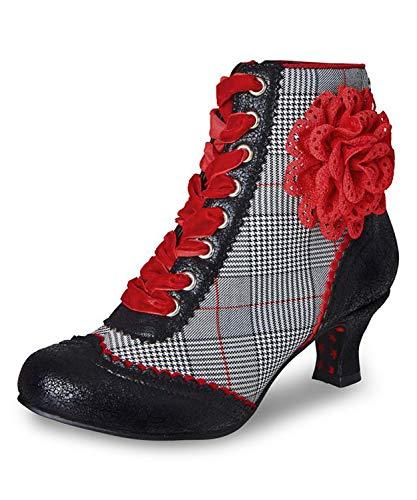 Joe Browns Couture Botas de mujer Wanda a cuadros con cordones UK, color Gris, talla 37 EU