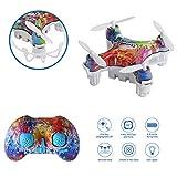 WINGLESCOUT Mini Drone Enfants débutants, Quadricoptère de Poche RC Maintien d'altitude, Mode sans tête, Flips 3D hélicoptère...