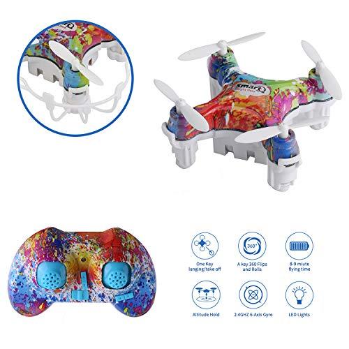 Mini Drone,Cellstar Mini UFO Quadricottero Drone 2.4G 4CH 6 Axis con 3D Flips, Quadricottero con Tasto Unico per Atterraggio & Decollo, Altitudine Fissa Intelligente Funzioni CX-10D (Multicolore)