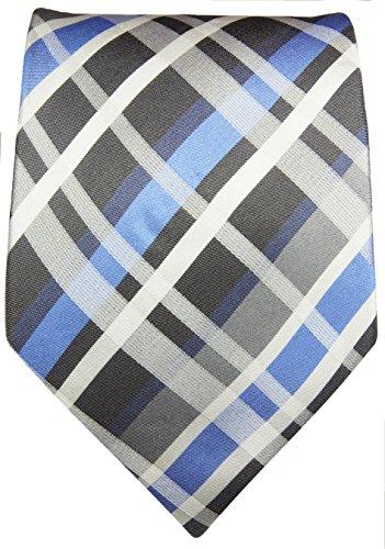 Cravate bleu tartan 100% soie