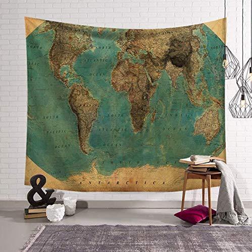 Carte Du Monde Tenture murale Tapisserie Image Tapisserie Murale Art Rond serviette Plage Couverture Tapisserie Murale Pour Chambre Carte Du Monde 150 * 200 Cm