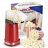 Global Gourmet Popcorngerät 1200W | Gourmet-Popcorn-Maschine | Bestes Popcorngerät - fettfrei und gesund