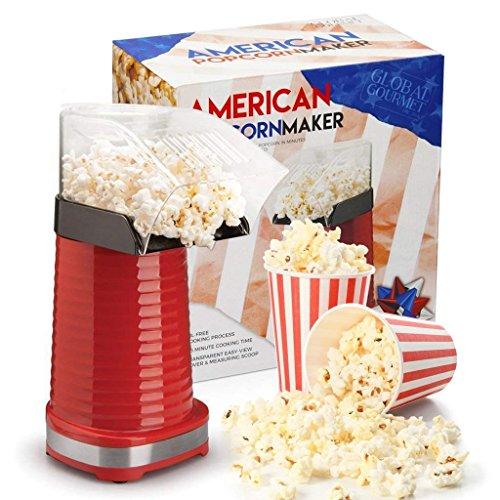 Global Gourmet macchina per i popcorn 1200W | Macchina per popcorn gourmet | Il miglior dispositivo per popcorn: privo di grassi e salutare