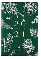 2021ダイアリーA5コンパクト2021プランナーダイアリー2021ウィークトゥビューラン1月-12月21日見事なA5ダイアリー2021-すべての人へのプレゼントに最適-緑