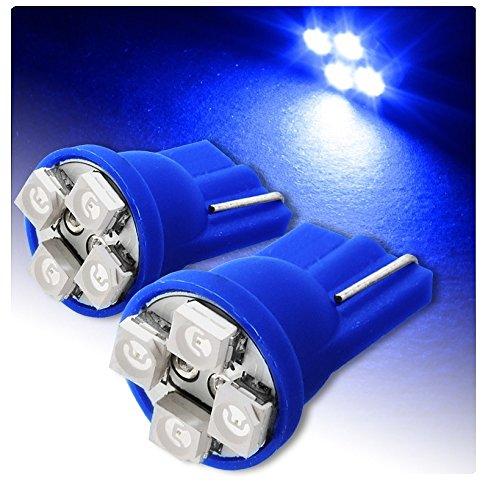 2 LUCI DI POSIZIONE LED BLU BLUE XENON T10 4 SMD lampadina auto 6000K 12V W5W car