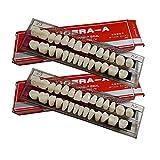 56 Pcs False Teeth Dental Complete Acrylic Resin Denture Teeth, 2 Set Whole Teeth Synthetic Polymer...