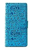 purple eyes cute abc wallet Flip Cover Case for asus zenfone 3 deluxe ze552kl blue