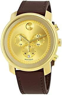 Movado Bold Gold Dial Chronograph Mens Watch 3600409
