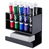 Best Whiteboard Erasers - MyGift Wall-Mounted 2-Tier Black Acrylic 10-Slot Dry Erase Review