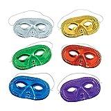 Metallic Half-Masks (24 pieces)-Masquerade Masks, Mardi Gras, Party Supplies