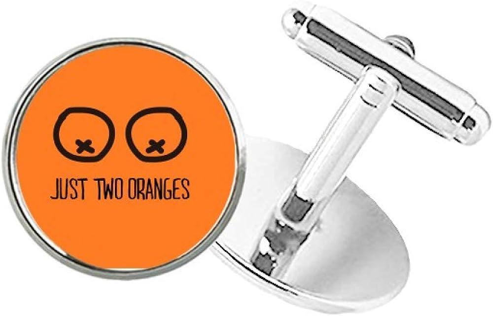 DIYthinker Just Oranges Milwaukee Mall Funny Drawing Round Orange Surprise price C Cuff Button