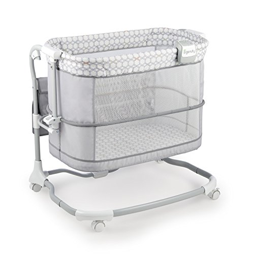 Big Save! Ingenuity Dream & Grow Bedside Bassinet Deluxe - Blakely