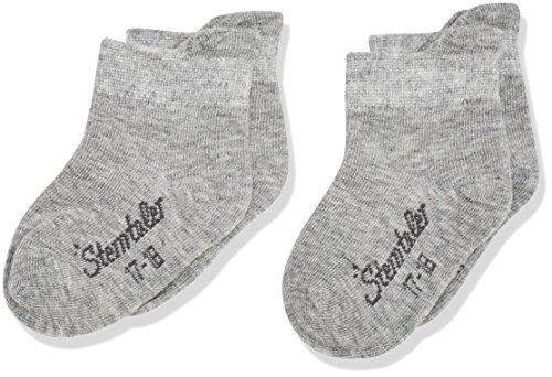Sterntaler Sneaker-Socken Doppelpack, Alter: 18-24 Monate, Größe: 22, Hellgrau (Silber meliert)