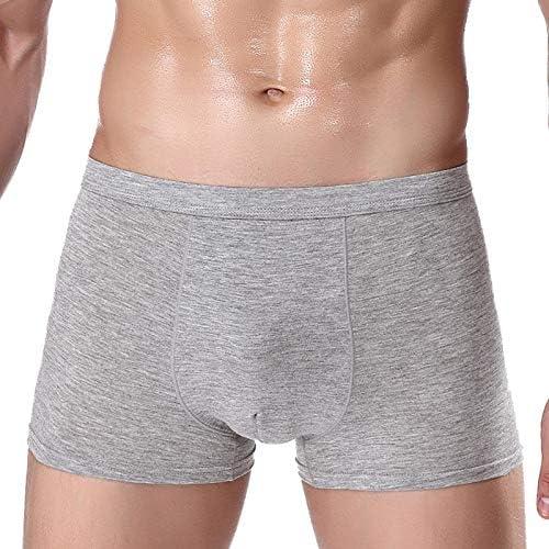 JIUMENG Men's Boxer Briefs Underwear Men's One Coulor Comfortable Viscose Underwear