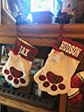 Personalized Dog Stockings Christmas Gift for Pets Cat Paw Custom Present for Fur Babies Stuffers