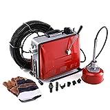 Z ZELUS 400W Limpiador de Drenaje de Tubos 400r / min Desatascador de Tuberias Máquina de Limpieza de Drenaje Eléctrica para Tuberías de 30 mm a 100 mm
