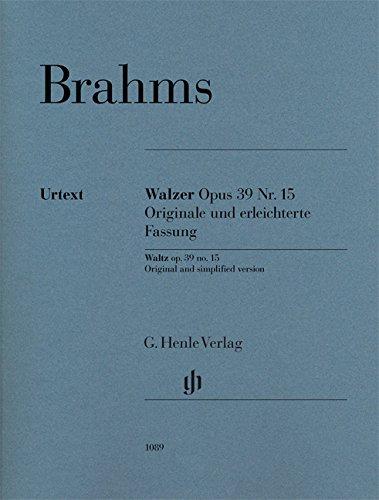 Walzer op. 39 Nr. 15 - Originale und erleichterte Fassung