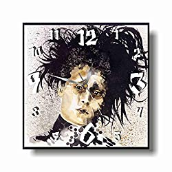 Art time production Edward Scissorhands 11 Wonderful Handmade Wall Clock - Unique Design - BE Special - The Best Present Made of Plastic