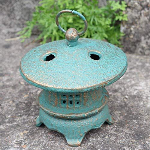 erddcbb Vintage Hierro Fundido Pagoda Japonesa Oriental Metal Colgante Linterna de jardín Candelabro Decoraciones para el hogar, B