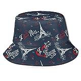 Sombrero abstracto de lona con diseño de oso y búho, plegable, para viajes de primavera y verano, sombrero de pescador, playa y sol, I Love Paris I Love France Torre Eiffel, Talla única