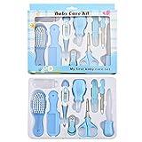 kit de cuidado de la salud, All Baby Care Essentials Juego de 10 piezas que incluye un termómetro digital Aspirador nasal Cuidado de uñas y cabello, viajes y uso doméstico Ideal-(azul)