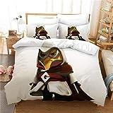 JXSMYT Ropa de cama infantil 3D Minions divertida, juego de funda nórdica y funda de almohada, ropa de cama para niños 135 x 200 (LCBT-6,155 x 220 cm + 1 x 50 x 75 cm)
