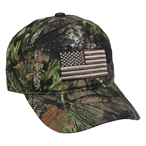 Outdoor Cap Men's Camouflage Americana Cap, Mossy Oak Country, One Size