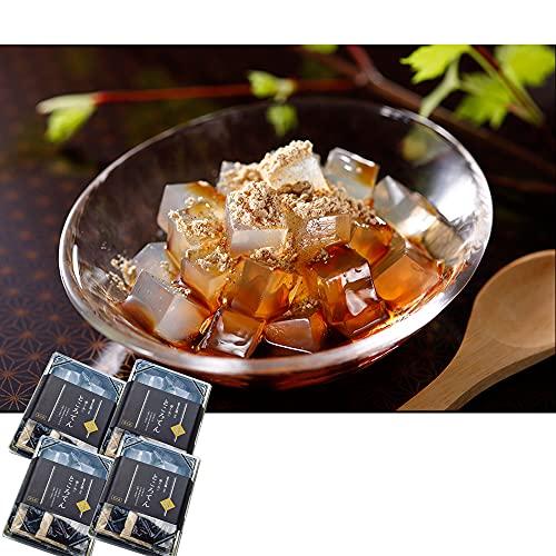 文志郎 磨き水の ところてん 和菓子 グルメ(角切 黒蜜きな粉付き)4パック ギフトBOXセット 敬老の日