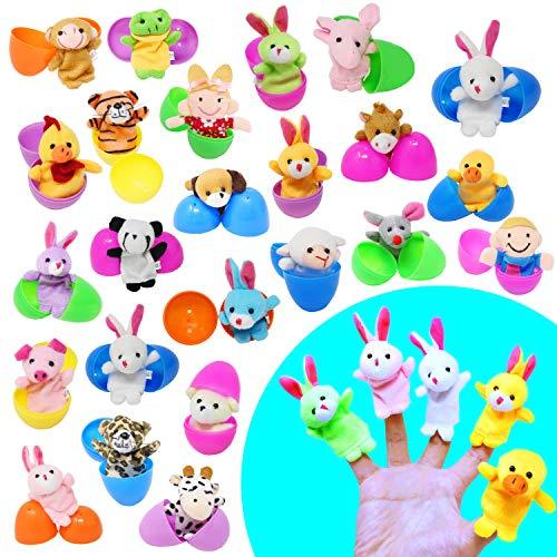 Finger Puppets in Eggs are perfect fillers for a toddlers Easter basket