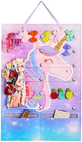 Beinou Headband Holder Organizer for Girls Unicorn Hairbow Storage Holder Felt Wall Hanging product image