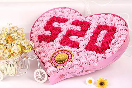 JZHJJ eenvoudige en stijlvolle klassieke paar armband creatieve liefde 520 Plus armband zeep bloem roos verjaardag inclusief: armband, armbanden vrouwen