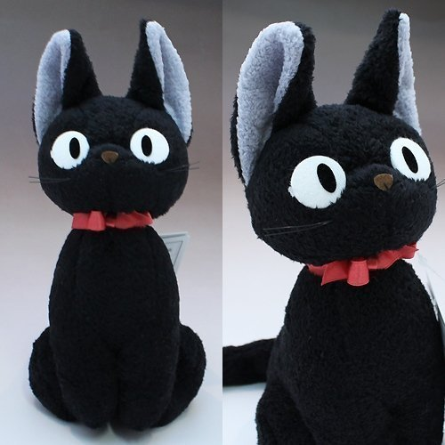 kiki's delivery service jiji Plush Doll M size Studio Ghibli Japan by Sunarrow by Sun Arrow