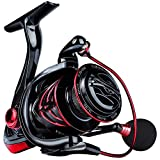 Sougayilang Spinning Reel,12+1 Stainless BB Fishing Reel,Ultra Smooth Powerful, Lightweight Graphite Frame, CNC Aluminum Spool for Saltwater Freshwater-2000R