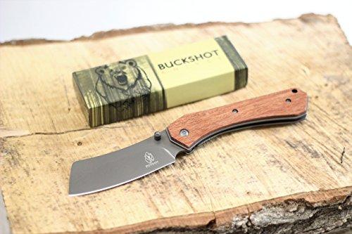 Wartech Buckshot Knives PBK222 Thumb Open Spring Assisted Tanto Cleaver Pocket Knives (PBK222WD)
