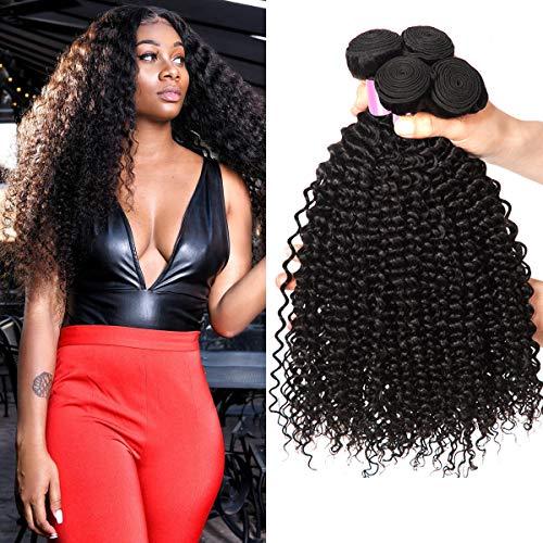 EMOL Hair 8A Brasilianisches Haar Brazilian Curly Hair Bundles Menschliches Haar Virgin Human Hair Curly Weave 3 Bundles 16 18 20 Zoll Total 300g Natural Color