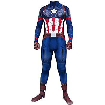 Capitán América Cosplay Traje Vengadores para Adultos de Disfraces ...