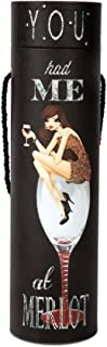 Hiccup by H2Z 73689 You Had Me at Merlot Blinking Wine Box, 15-Inch Tall