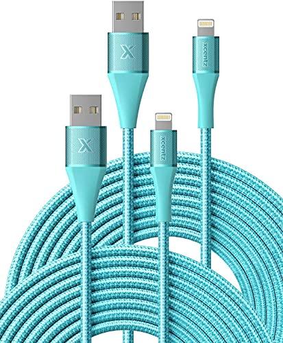 XCENTZ Cable de carga para iPhone de 2 metros, certificado MFi, cable...