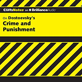 Crime and Punishment     CliffsNotes              By:                                                                                                                                 James L. Roberts Ph.D.                               Narrated by:                                                                                                                                 Tim Wheeler                      Length: 4 hrs     9 ratings     Overall 4.3