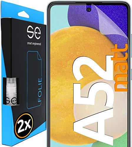 smart engineered [2 Stück] Entspiegelte 3D Schutzfolien kompatibel mit Samsung Galaxy A52, hüllenfre&liche Matte Bildschirmschutz-Folie, Schutz vor Dreck & Kratzern, kein Schutzglas